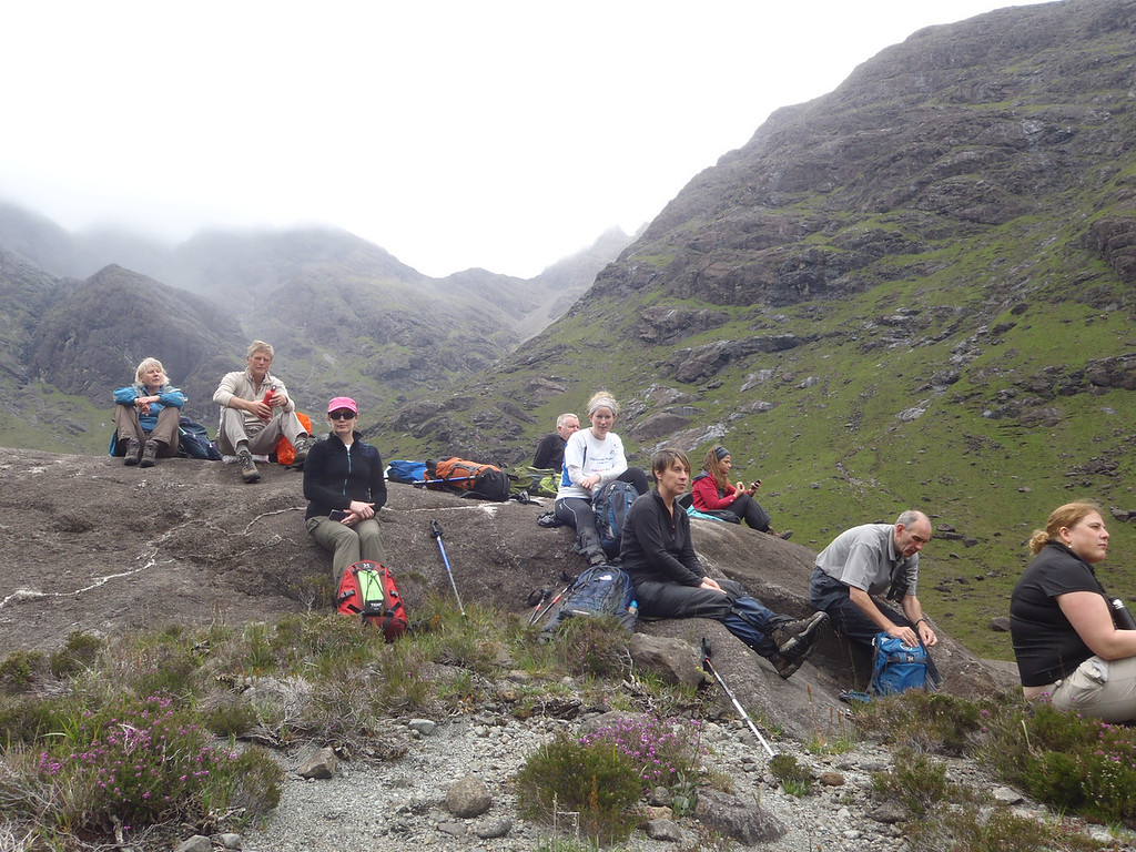 The heart of the black Cuillin what a great spot for lunch
