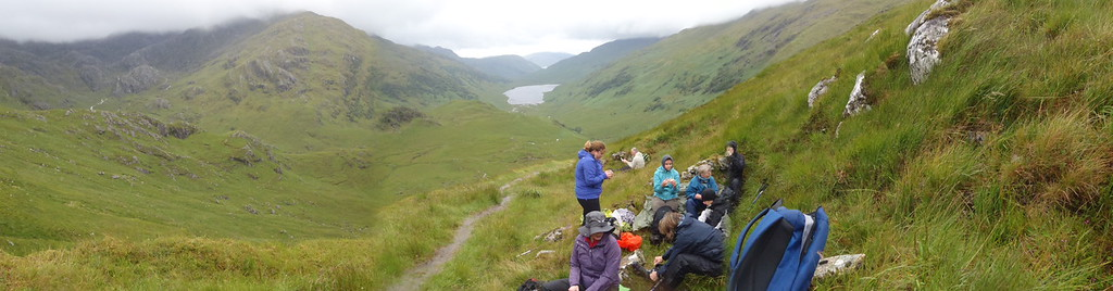 Lunch at the top of Mam Barrisdale