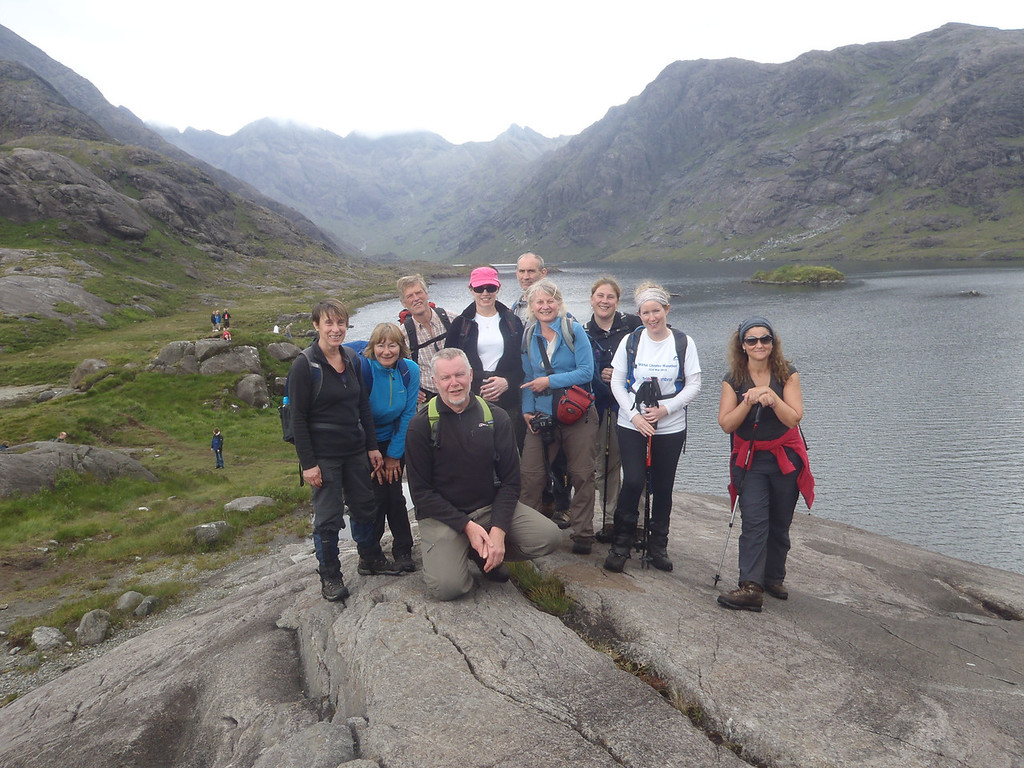 Our group of friends Loch Coruisk