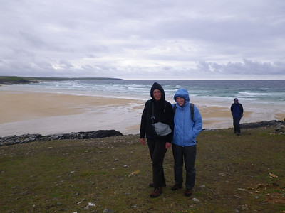Chris and Jan above Traigh Shanndaigh, Lewis
