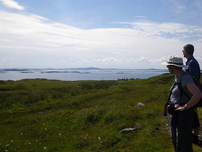 Sara and Richard enjoying the views towards the Uists
