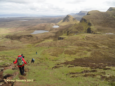 The dramatic Trotternish Ridge extending before us on our descent