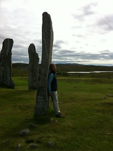 A quiet moment for Judy at Callanish Stone Circle