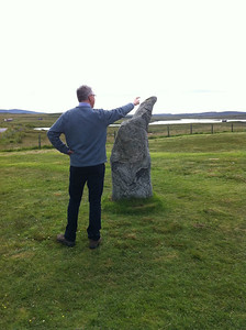 The pointing man at Callanish finds some inspiration