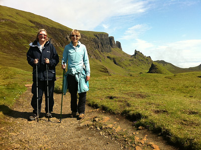Jane & Judy enjoying our final walk on Skye
