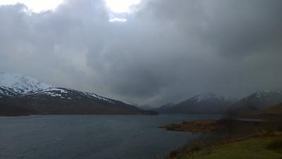 Grey day, looking west towards Glen Shiel.