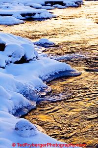 Yellowstone River Sun Reflection