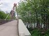 Walking from Eugene station to Valley River Inn; bike and footbridge across Willamette River