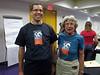 Modelling t-shirts -- Josh Hammari and Vicky