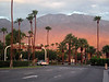 Sunrise departure from Palm Springs via Amtrak bus-