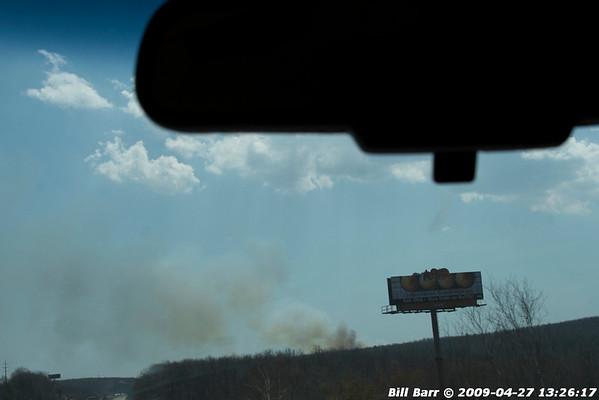 Wildfire, Humbolt, Hazle Twp., 4/27/09