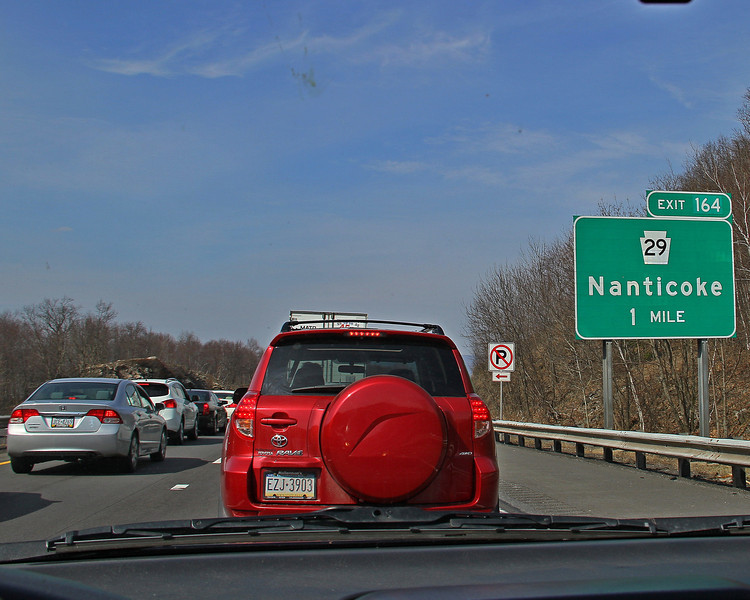 Traffic was stopped for the 2 accidents on I-81