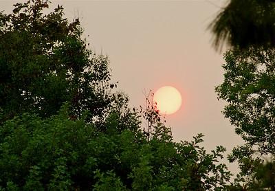 Sunset and smoke 9-09