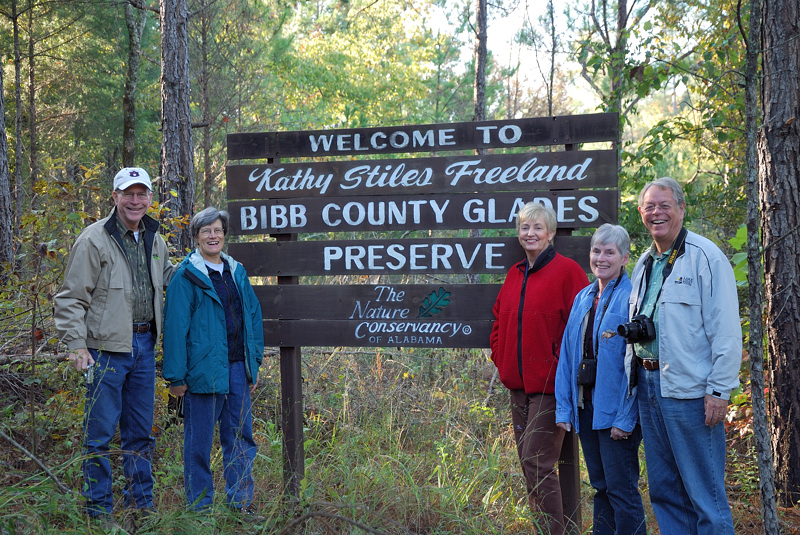 Girault, Beth, Sandra, Gwen, and Ross enter the glades site on October 26, 2008.