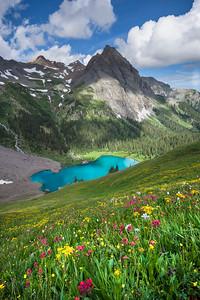 Lower Blue Lake - Flower Slopes