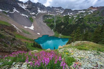 Lower Blue Lake - Fire Weed Landscape