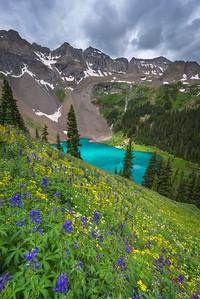 Lower Blue Lake - Flower Steeps