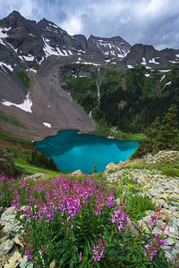 Lower Blue Lake - Fire Weed