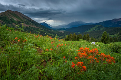 Rainy Skies Over Crested Butte