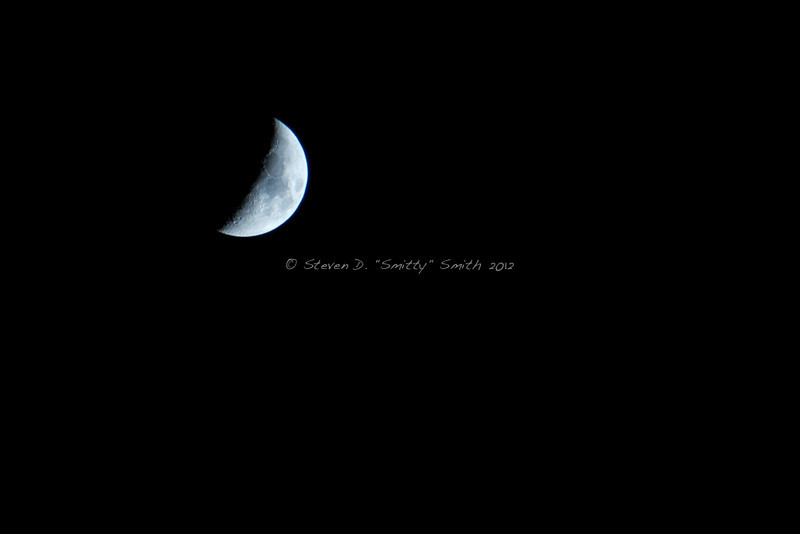 The moon that was out that night.