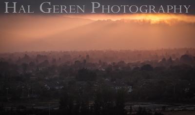 Sunrise over Newark Newark, California 1405N-NS1