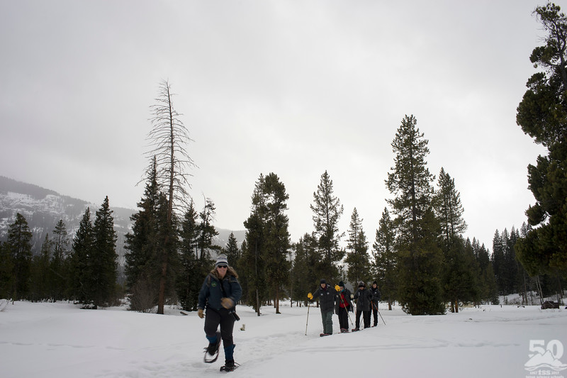 Dylan Klinesteker - Sarah Showing Off On Snowshoes