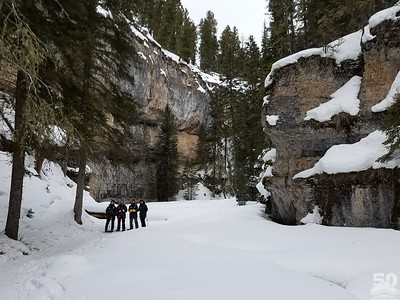 Sarah Ernst - Snowshoeing up Pebble Creek Canyon