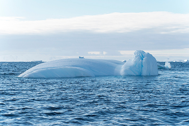 Large domed iceberg at Cierva Cove, located at the far northern end of Hughes Bay, at the northern end of the Gerlache Strait