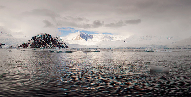Neko Harbor, an inlet on the Antarctic Peninsula on Andvord Bay, situated on the west coast of Graham Land.