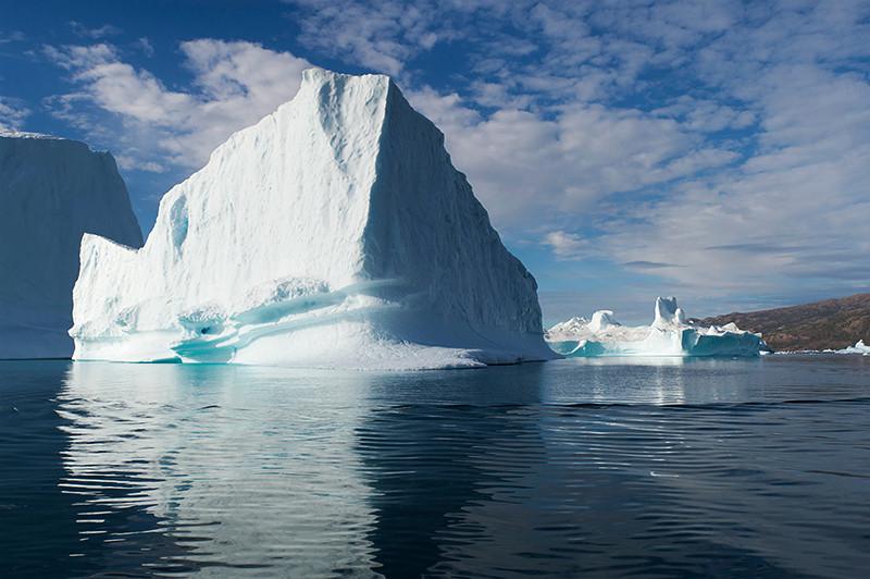 Iceberg Graveyard in Rodefjord, Scoresby Sund, Greenland