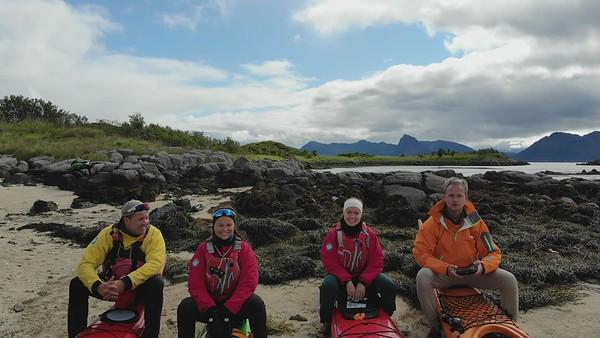Group kayakking