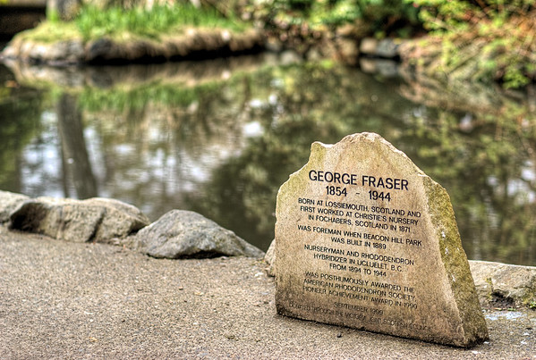 Engraved Stone - Beacon Hill Park, Victoria BC Canada