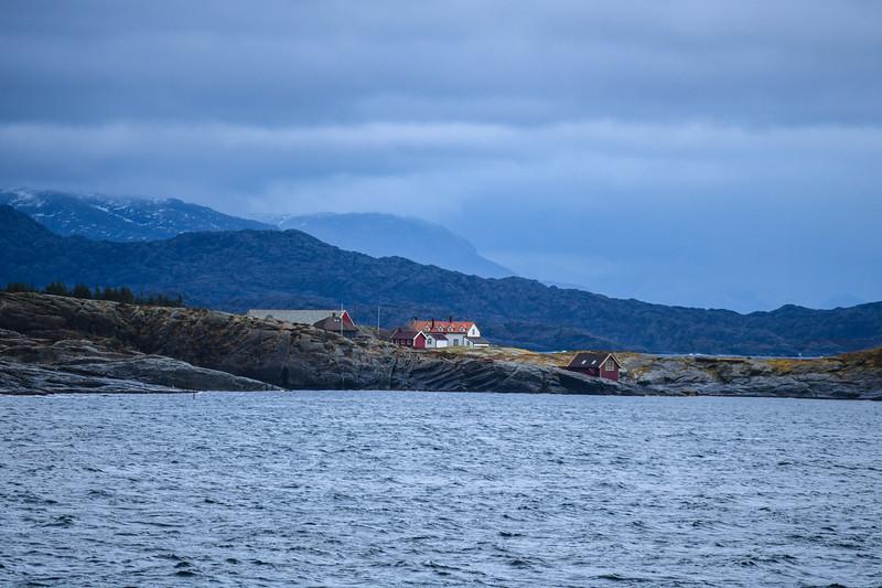 Cruising past a small settlement