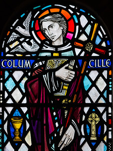 Iona is a very short ferry trip from Mull.  This is a window in the abbey - St Colomba.