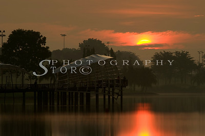 Sunrise at Singapore Seletar Reservoir