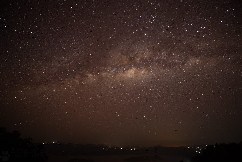 Milky Way from Volcanoes lodge