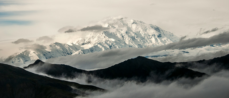 View of Mount McKinley (AKA Denali) from the air