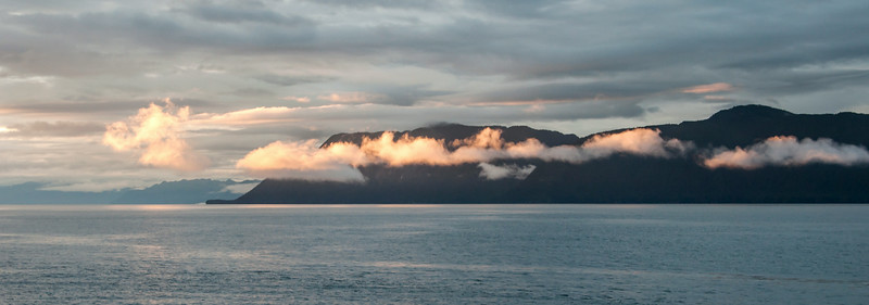 Frederick Sound & Stephen's Passage - Clouds at Sunset