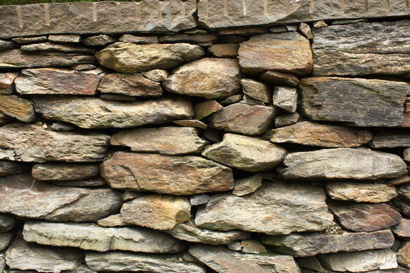 The beauty of a hand-made rock wall.