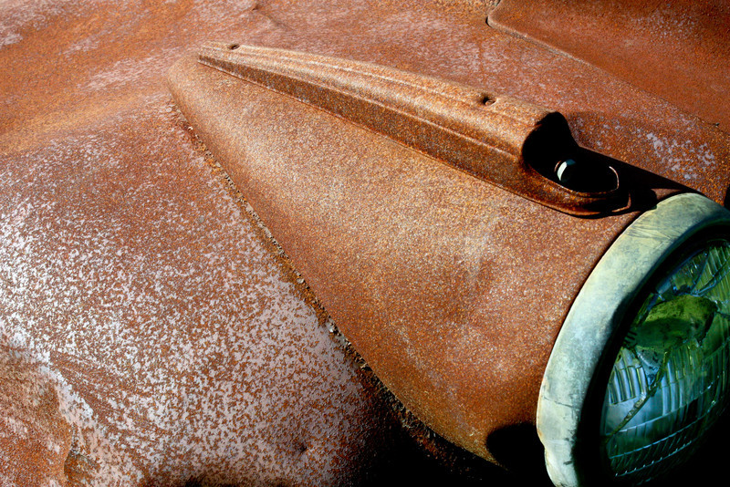 Beautiful rust from an old pick up truck.