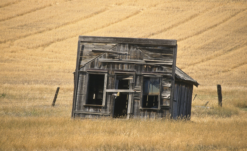 This is all that is left from a once busy western town.