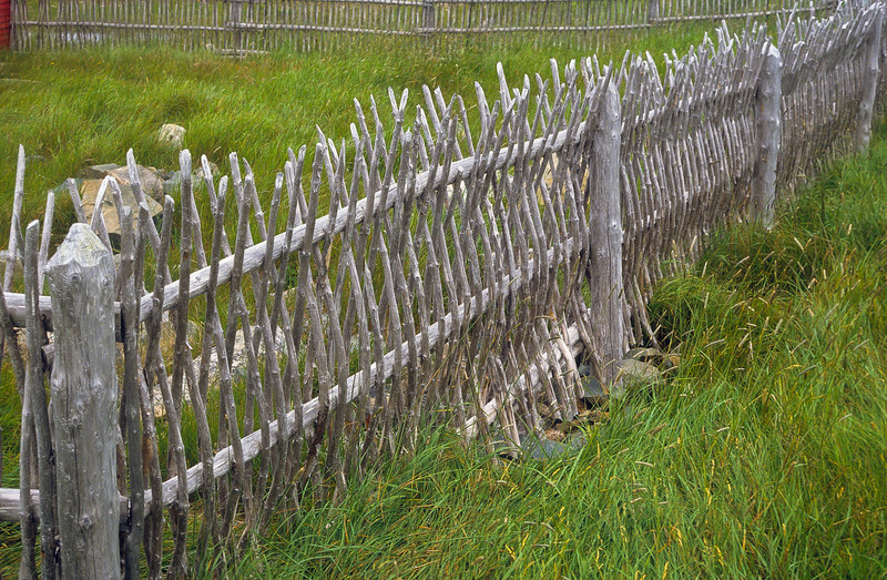 A unique fence made by hand.