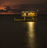 Stiltsville - Leshaw House at Moonrise