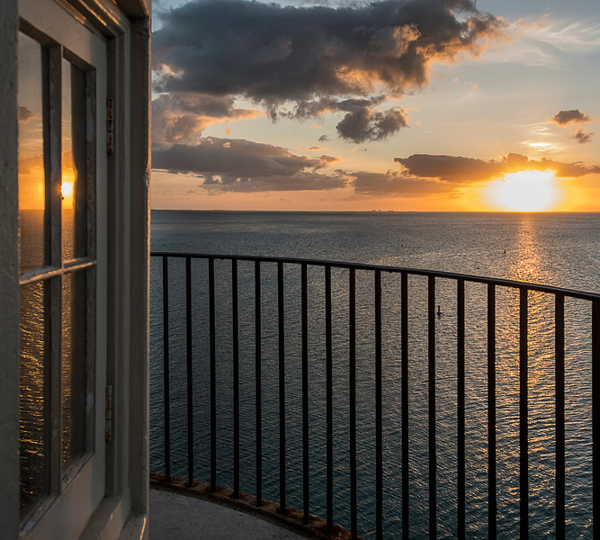 Sunset from the top of the Ornamental Lighthouse on Boca Chita Key