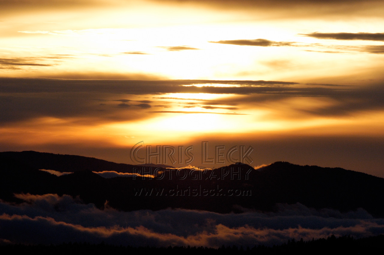 Sunset at Bonney Butte.