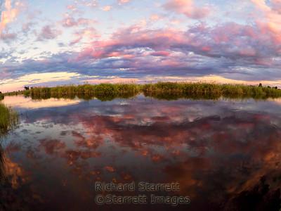 Chobe River sunset, border between Botswana and Namibia