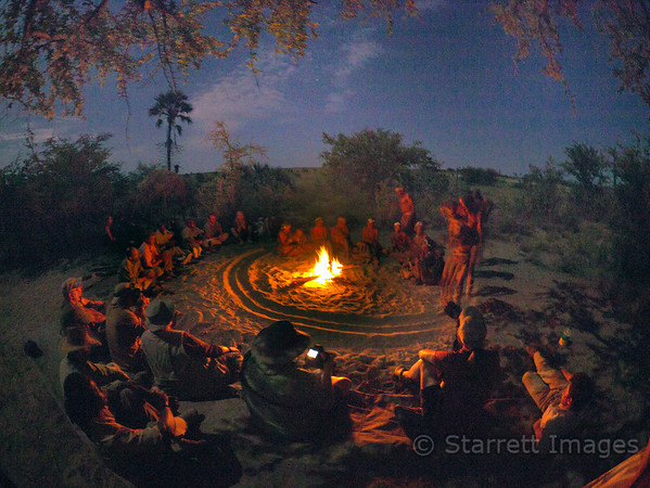 Bushmen, healing ceremony where the Shaman takes onto himself the ailments of those being treated