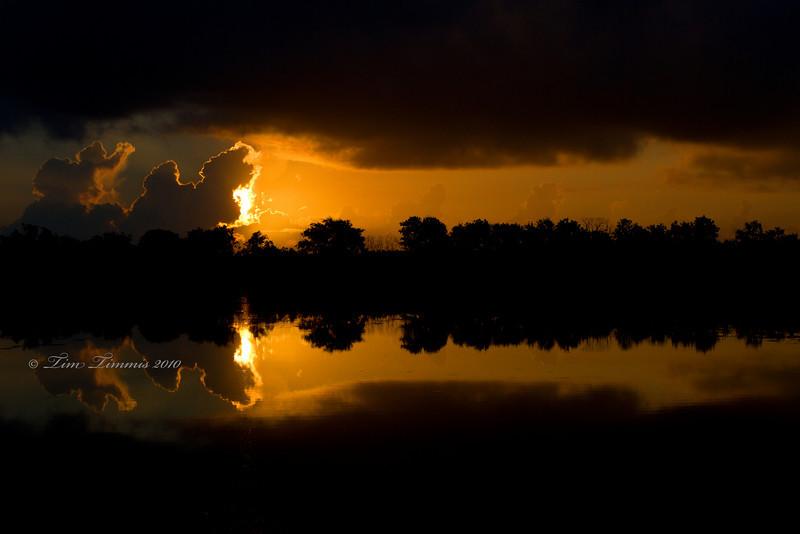 Sunrise at 40 acre lake
