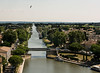 View from Ramparts of Medieval Walled City of Aigues Mortes