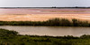 Landscape & Pink Lake as seen from the Ramparts of Medieval Walled City of Aigues Mortes